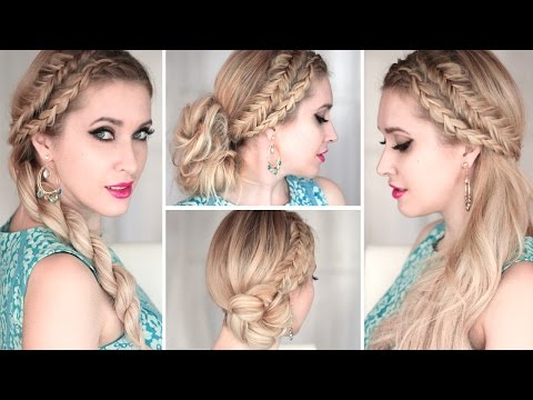 4 cute and easy SUMMER hairstyles with braids ❤ Everyday, prom, wedding ❤ Medium/long hair tutorial
