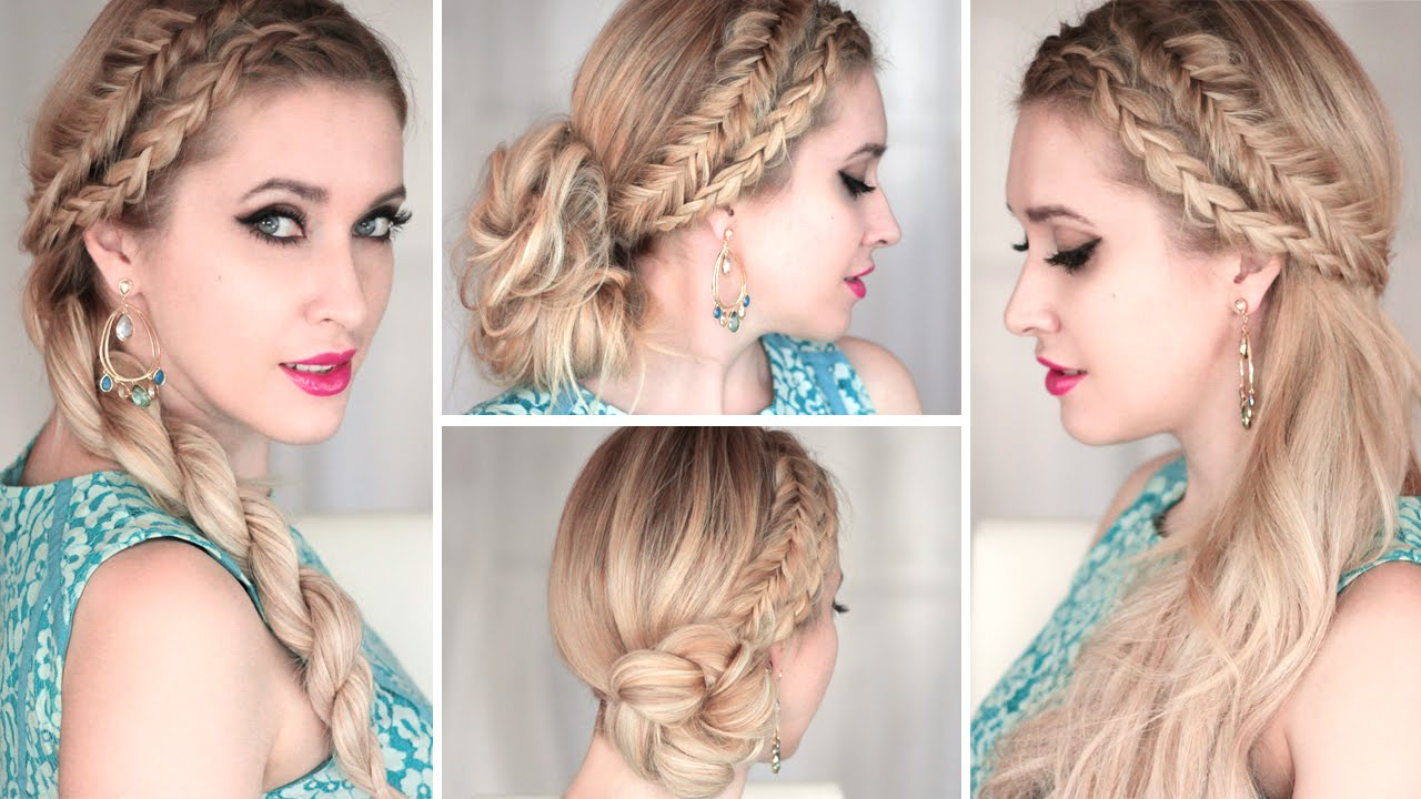 4 cute and easy SUMMER hairstyles with braids ❤ Everyday, prom ...