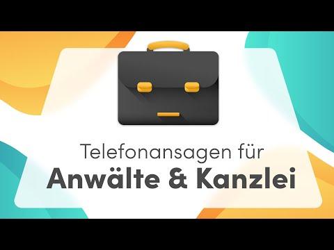 💼 Telefonansagen für Anwälte & Berater - telefonansagen.de