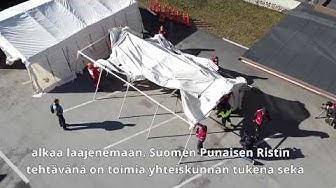 Punaisen Ristin Triage-teltat sairaalan tueksi Hyvinkäällä