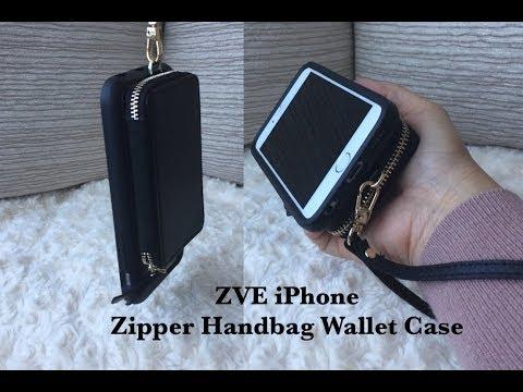 zve-iphone-6s-leather-zipper-handbag-wallet-case-review-|-unboxing