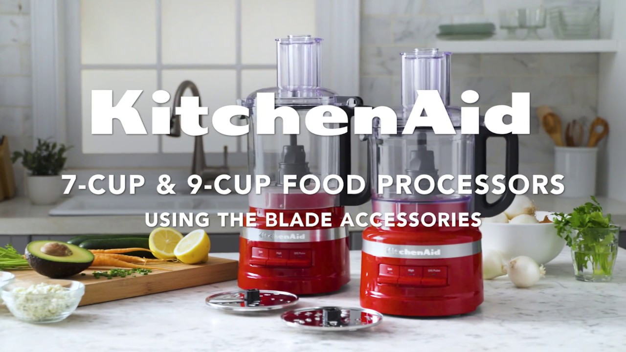 How To Use The Blades For The New 9 Cup Food Processor Kitchenaid