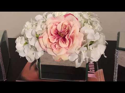 Glam Mirror Box/Glam Mirror Vase/Dollar Tree DIY