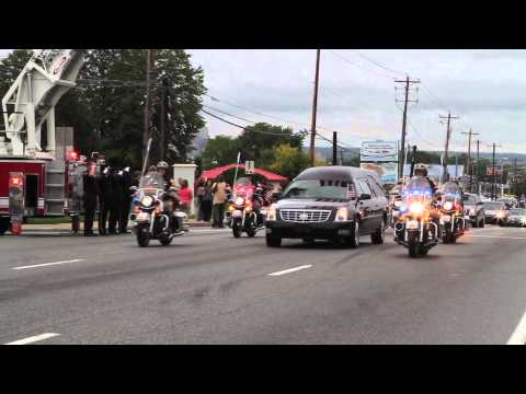 Funeral procession leads Szczerba past headquarters [Delaware Online News Video]