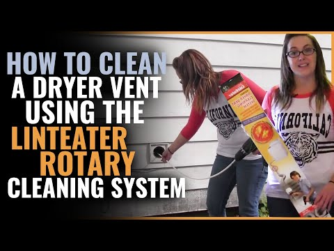 How to Clean a Dryer Vent using the LintEater Rotary Cleaning System