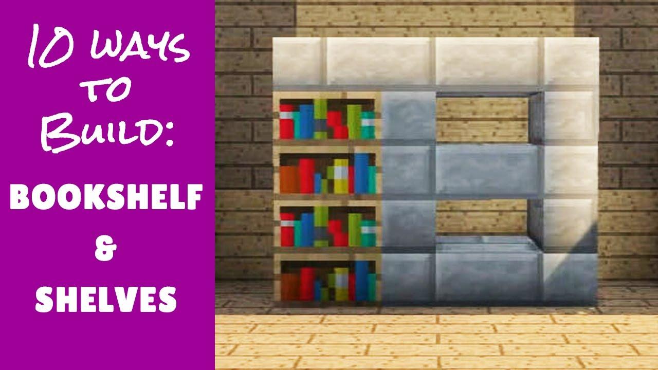 Bookshelf Storage Minecraft Furniture