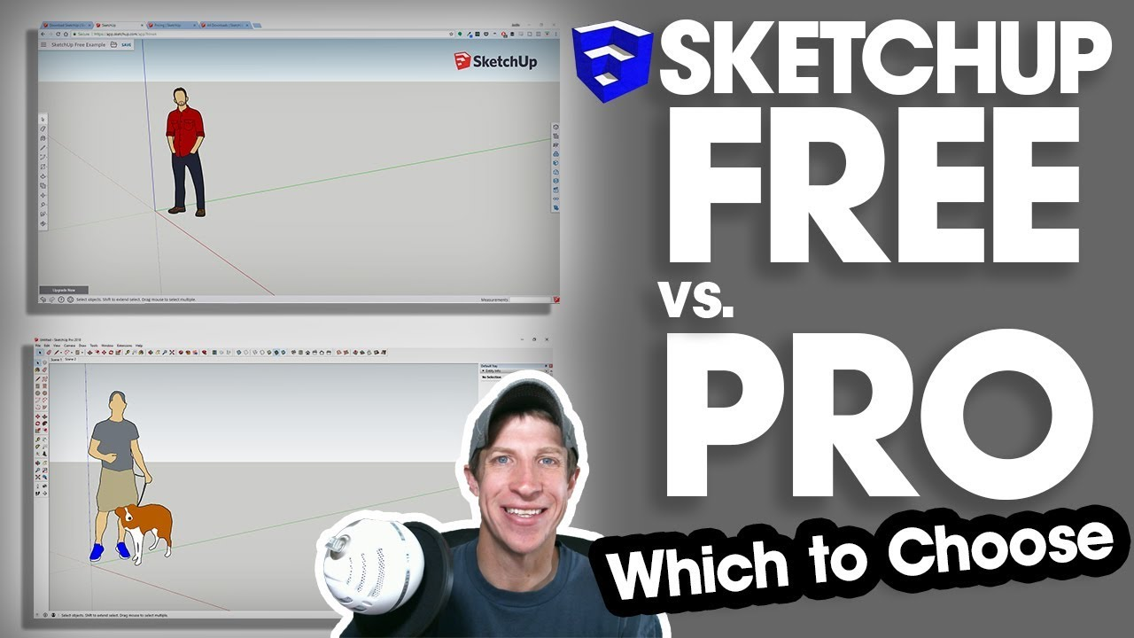 Sketchup Free Vs Shop Vs Pro Which One Should You Choose Youtube