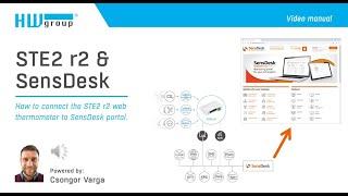 STE2 r2 & SensDesk:  How to connect the STE2 r2 to SensDesk portal
