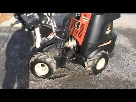 2008 Ditch Witch R230 Zahn Articulating Vibratory Plow Trencher Tool  Carrier Mini Skid Steer