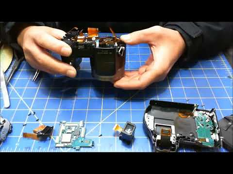 How to replace the shutter button on a Sony Cybershot DSC H7 DSC H9