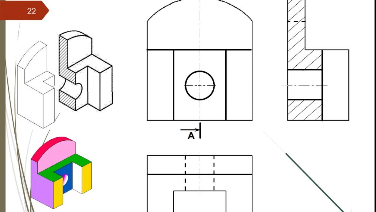 La coupe simple vue en coupe youtube - Exercice dessin industriel coupe et section ...