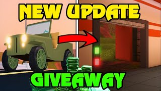 🔴 Roblox Jailbreak NEW PRISON ESCAPE UPDATE + MILITARY JEEP IS HERE | ROBUX Giveaway | MINIGAMES