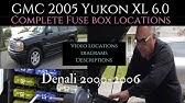 Fuse Box Location And Diagrams Gmc Yukon 2000 2006 Youtube
