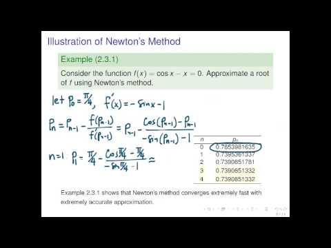 Newton's Method, Secant Method, Method of False Position