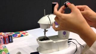 uso de la mini maquina de coser coats