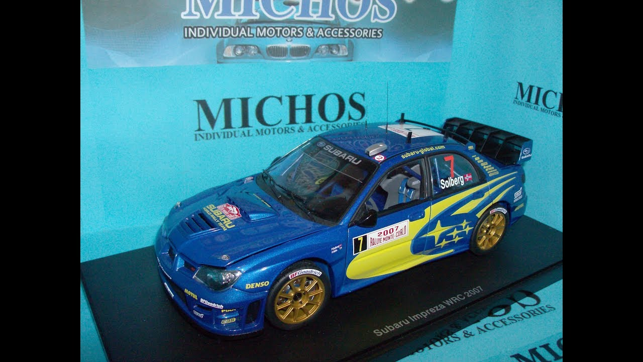 1 18 Subaru Impreza WRC 7 Solberg Monte Carlo Autoart 80790 Diecast Model