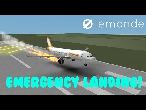 ROBLOX LeMonde airlines EMERGENCY LANDING (training Flight)