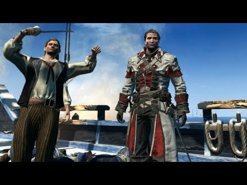 Assassins creed: game gone rouge/ Funny moments(the ships still fly)
