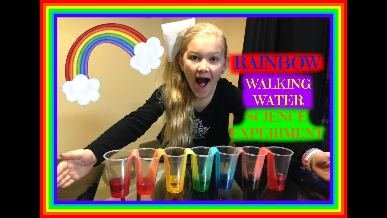 Rainbow Walking Water Easy Kids Science Experiment
