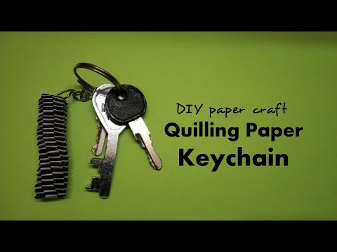 How to make a paper Slinky Keychain - DIY - Paper Craft  #keychain