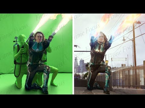 Captain Marvel Without VFX; See Behind all the CGI