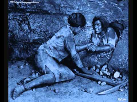 Slave woman in a mine
