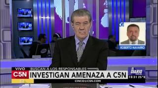 C5N - El Diario: Amenaza de bomba en C5N