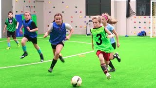 Kids Soccer Drills, Training, and Scrimmage!