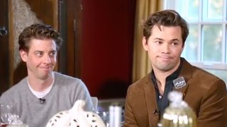 falsettos side by side but it's just andrew rannells and christian borle being pure