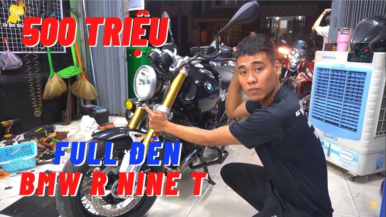 QUÁ ÁP LỰC Khi Độ Full Đèn Trợ Sáng Cho Xe BMW R Nine T - Xe Ôm Shop