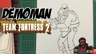 How to draw Demoman from Team Fortress 2
