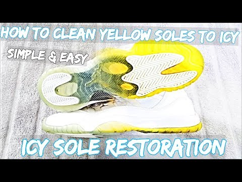 How To Clean Icy Bottoms EASY ! | Extreme Icy Sole Sauce Restoration