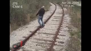 Drunk man got hit by train