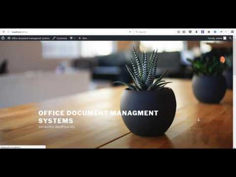 Office document managment system on wordpress