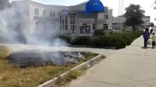 В Сумах устроили пожар прямо возле заправки
