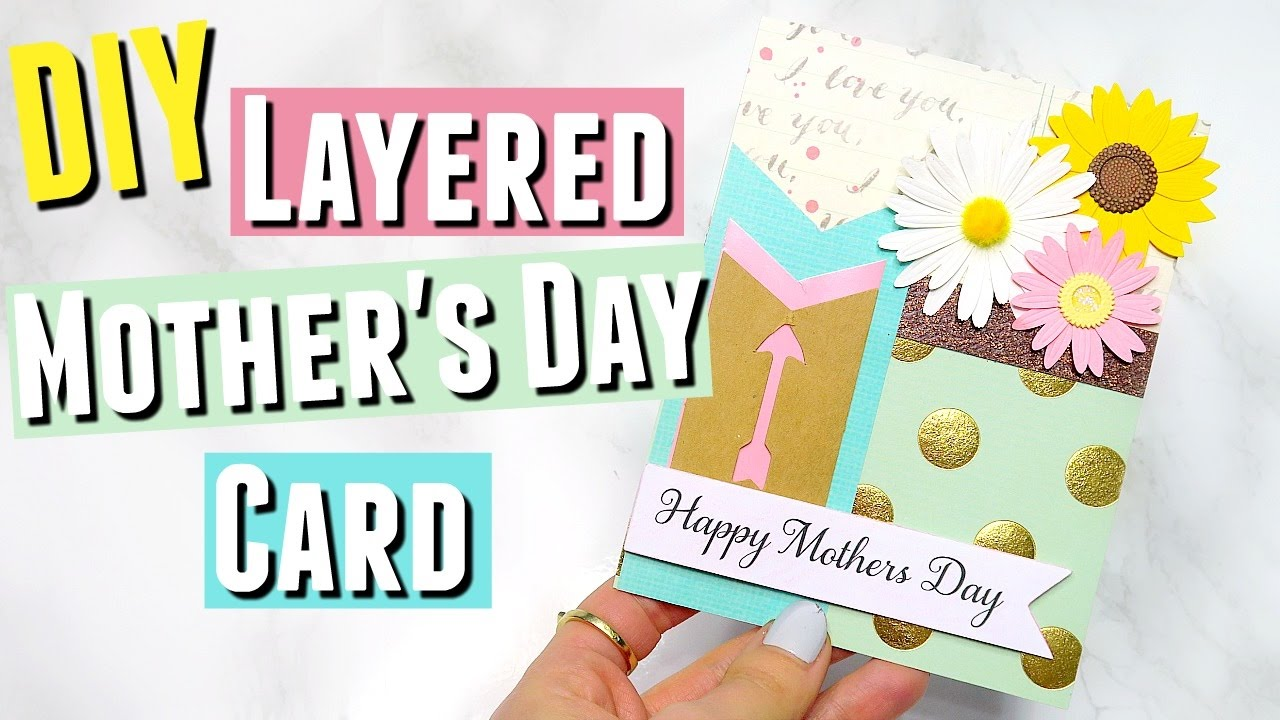 diy mother 39 s day card a diy layered mother 39 s day card diy. Black Bedroom Furniture Sets. Home Design Ideas