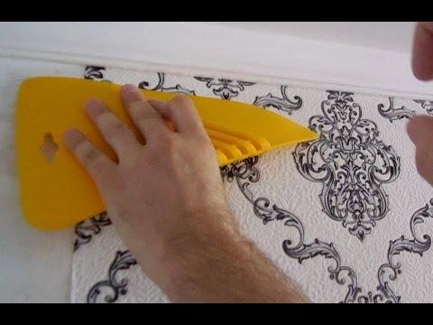 Как наклеить флизелиновые обои своими руками видео