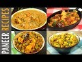 4 Paneer Recipes For Lunch Dinner | Quick Paneer Recipes | Guest Meal Plan