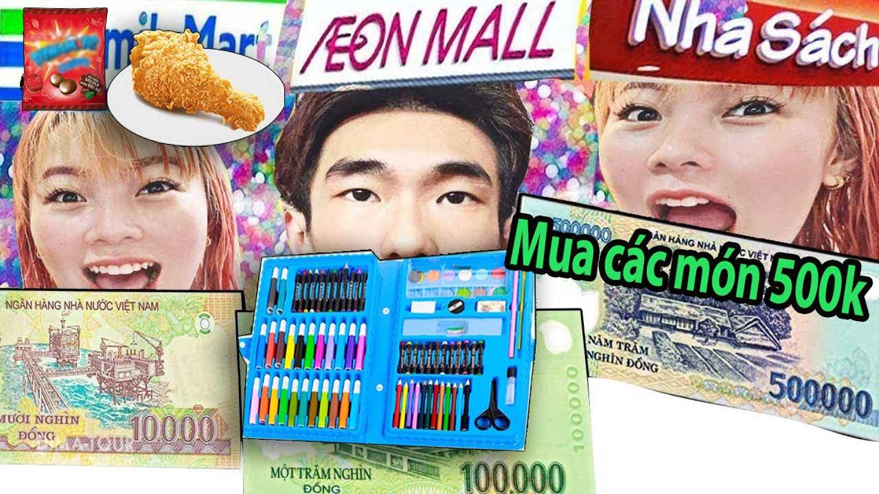 Thử Thách Laytv Mua Đồ Theo Giá 10k vs 100k vs 1 Triệu – Shopping 10k vs 100k