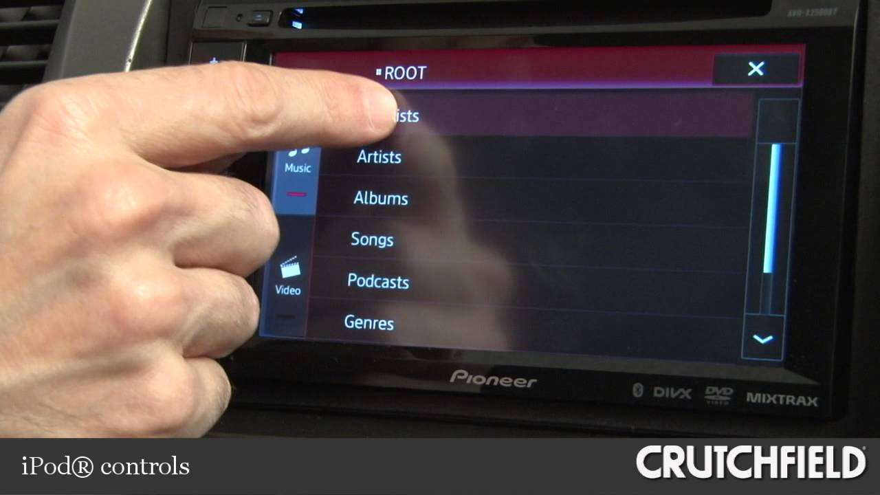 hight resolution of pioneer avh x2500bt car dvd receiver display and controls demo crutchfield video youtube