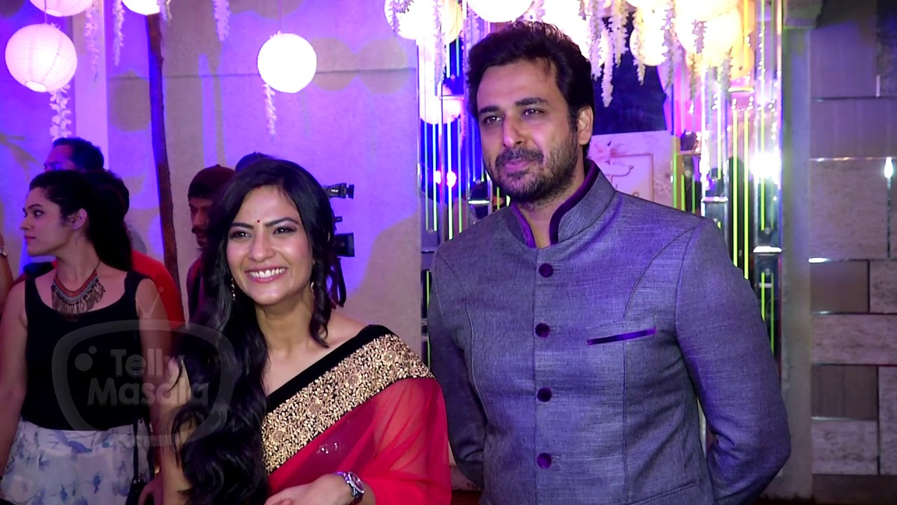 aditi sharma with her husband sarwar ahuja at rubina dilaik and abhinav shukla wedding reception