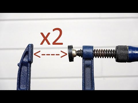 Make long bar clamps out of short clamps