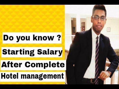 Starting Salary After Complete Hotel Management