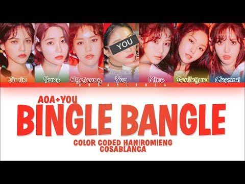 AOA 「Bingle Bangle」 [7 Members ver.] (Color Coded Lyrics Han|Rom|Eng)
