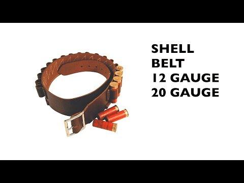 Leather Shell Belt, 12/20 Gauge
