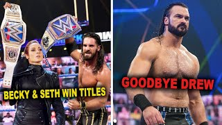 Becky Lynch Returns Wins Titles With Seth Rollins Drew McIntyre Leaves WWE WWE News
