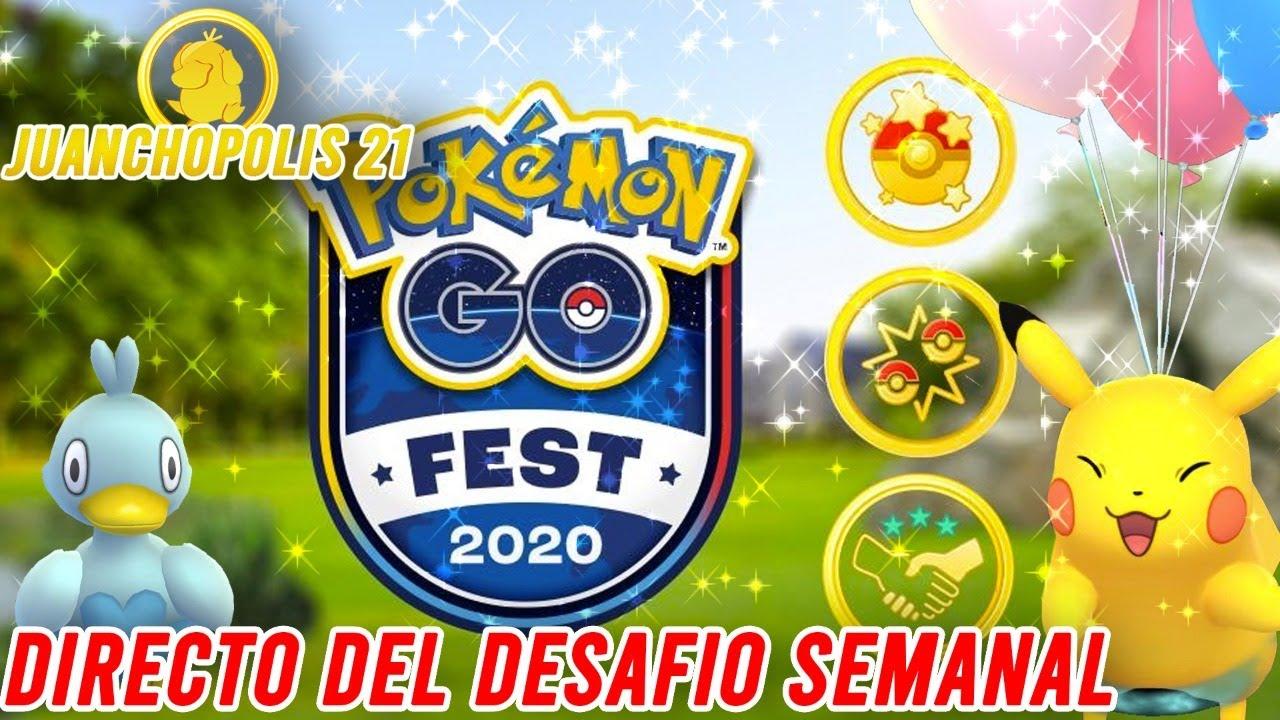 ¡DIRECTO JUGANDO EL DESAFÍO SEMANAL!-Pokémon Go (No hay PvPX25 :v)