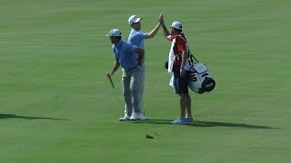 Chris Kirk holes out for eagle at the Hero World Challenge