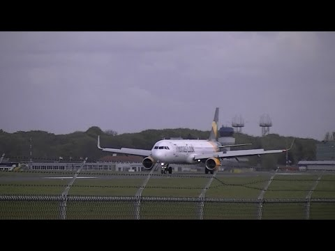 Thomas Cook Airlines Scandinavia OY-TCI Landing and takeoff GRQ - EHGG