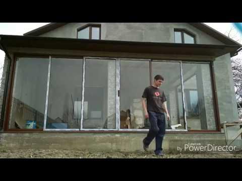 Раздвижные окна на веранду своими руками